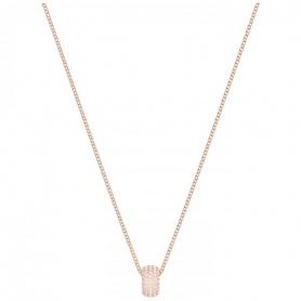 Swarovski Stone Round Halskette, zentrale Rosè Anhänger - 5383957