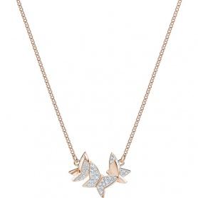 Swarovski collana Lilia farfalle placcata oro rosa - 5382366