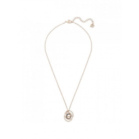 Swarovski Greeting Ring necklace, rosè spiral pendant - 5394969