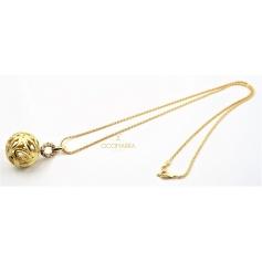 Vendorafa sphere necklace in gold and brown diamonds