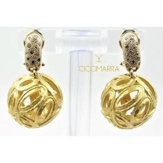 Vendorafa sphere earrings in gold and brown diamonds