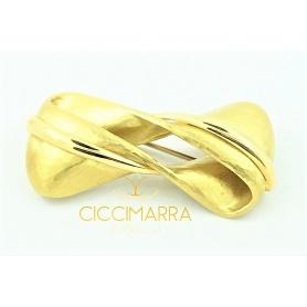 Vendorafa Kugel Brosche, in Gold und braunen Diamanten