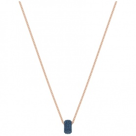 Swarovski Stone Round Necklace, with central blue round pendant