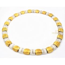 Collier Vendorafa scudi in oro giallo e bianco