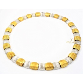 Vendorafa collier, shields, in yellow and white gold