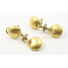Orecchini Vendorafa pendenti in oro con diamanti