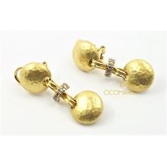 Vendorafa pendant earrings in gold with diamonds