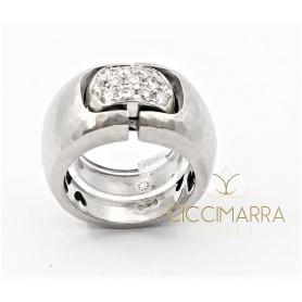 Anello Vendorafa fascia in oro bianco e brillanti KA0622