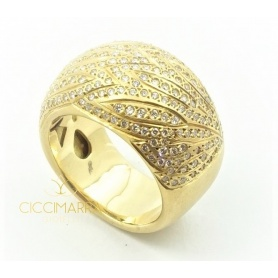 Vendorafa ring in yellow gold and diamonds - KA3941