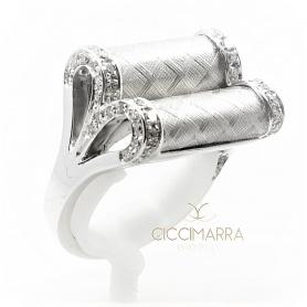 Vendorafa Ring, Schleife in Weißgold und Diamanten KA2627