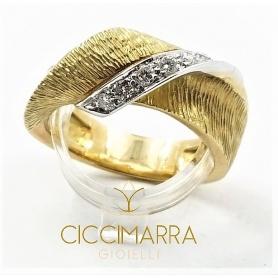 Vendorafa Ring, Band in Gelbgold und Diamanten