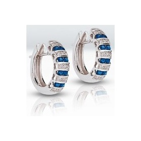 Earrings with brilliants and sapphires-3407400