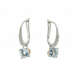 Aquamarin Ohrringe und Diamanten-1O06796B1700P
