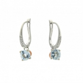 Aquamarine earrings and diamonds-1O06796B1700P