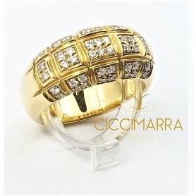Vendorafa ring in yellow gold and diamonds - KA0147