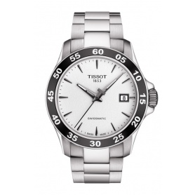 Tissot V8 Swissmatic watch, silver T1064071103100