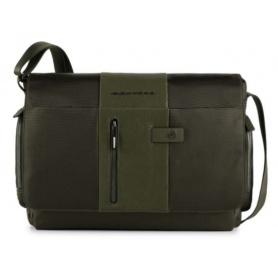 Piquadro Messenger computer case and iPad holder CONNEQU Brief green