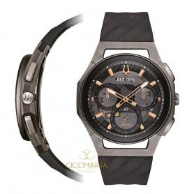 Bulova Curv Chronograph Uhr, Titan 98A162