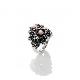 Anello donna Wild rose G.Raspini argento ed opale rosa - 10101