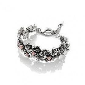 Wildes Rose G.Raspini Armband in Silber und großem Rosenopal
