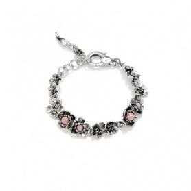 Wildes Rose G.Raspini Armband in Silber und mittelpinkem Opal