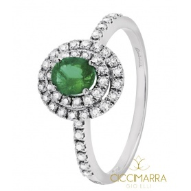 Salvini Dora ring with Emerald and diamonds 20057683
