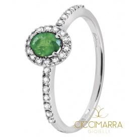 Salvini Dora ring, small, with emerald and diamonds