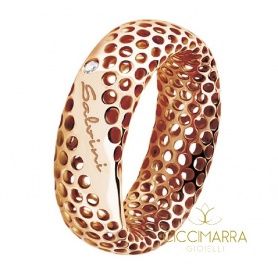 Salvini Golden Cage ring in rose gold with brilliant