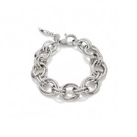 G. Raspini bracciale argento cerchi Oxford medio - 10130