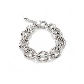G.Raspini silver bracelet, with medium rims Oxford  - 10130