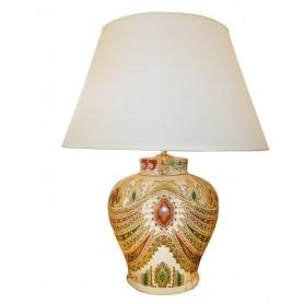 Etro Lampe Afsanè Kollektion Porzellan Elfenbeinfarbe gemischt, mittel