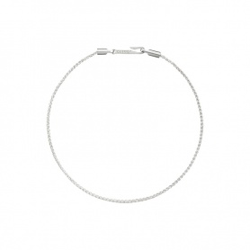 Giulia line bracelet in silver with hook closure, Civita by Queriot