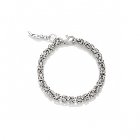 G. Raspini Armband, stricken byzantinische Mini-Mini in Silber - 10143