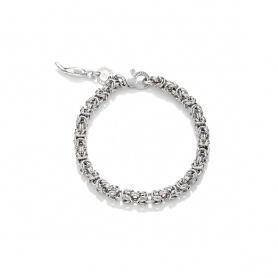 G. Raspini bracelet, knit byzantine mini mini in silver  - 10143