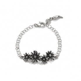 G. Raspini, daisy bracelet with chain rings - 9545