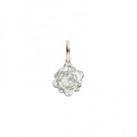 Micro ciondolo Fiore di loto Argento e Oro rosa lucido Civita by Queriot