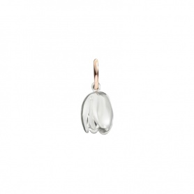 Silver and shiny rose gold Micro Tulipano pendant Civita by Queriot