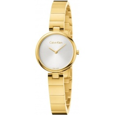 Calvin Klein Authentic watch in gold steel K8G23546