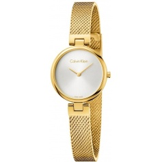 Calvin Klein Authentic watch Milanese gold mesh K8G23526
