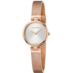 Calvin Klein Authentic rosè Milanese mesh watch K8G23626