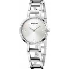 Calvin Klein Cheers silver watch with diamonds K8N2314W