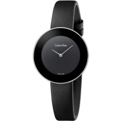 Calvin Klein Chic black watch with satin strap K7N23CB1