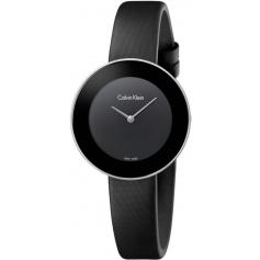 Calvin Klein Chic black watch with satin strap K7N23CB1