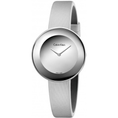 Calvin Klein Chic gray watch with satin strap K7N23UP8