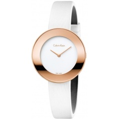 Calvin Klein Chic rosé watch with satin strap K7N236K2