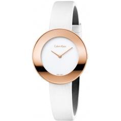 Calvin Klein Chic rosé watch with satin strap K7N236K2