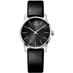 Calvin Klein Watches City black leather - K2G23107