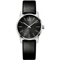 Calvin Klein Watches City black leather - K2G23107