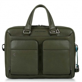 Piquadro borsa sottile porta computer  CONNEQU Black Square verde