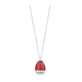 Tatiana Fabergè necklace in silver and Romanov red enamel